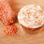 Захарни конфети - Металик оранжево - 70 гр