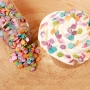 Захарни фигурки - Металик цветенца микс - 70 гр