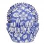 Хартиени форми за мъфини - Алоха в синьо - 50 бр