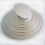 Подложка за торта - Сребриста кръгла - Ø10 см