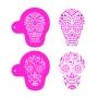 Комплект шаблони - Захарни черепи - 3 бр