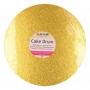 Подложка за торта - Злато - Кръг -1.2 х 25 см