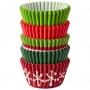 Хартиени форми за мини мъфини - Традиционна Коледа - 150 бр