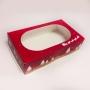 Кутия за сладкиши с прозорец - Коледа - 21.5х13х5.5 см