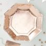 Парти чинии - Metallic Star - Розово злато