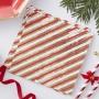 Парти салфетки - Red & Gold - Коледно бастунче