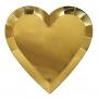 Парти чинии - MeriMeri - Златни сърца - Големи