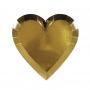 Парти чинии - MeriMeri - Златни сърца - Малки