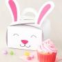 Комплект кутии за мъфини - Великденско зайче - 3 бр