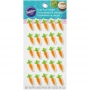 Захарни мини декорации - Морковчета - 25 бр