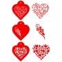 Комплект шаблони - Нежни сърца - 3 бр