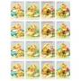 Принт декорация - Винтидж Великденски яйца и пиленца - 16 бр