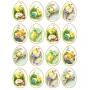 Принт декорация - Винтидж Великденски яйца - 16 бр