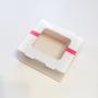 Картонена кутия за бонбони с прозорец 13*13*5 см.