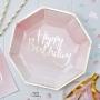 Парти чинии - PICK & MIX - Омбре Happy Birthday