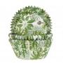 Хартиени форми за мъфини - Тропически листа - 50 бр