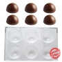 Поликарбонатен молд за шоколад - Полусфери - 6 бр