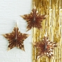 Висяща декорация - Metallic Star - Златни звезди