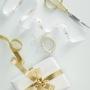 Комплект златни панделки - Metallic Star - Merry Christmas