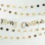 Парти гирлянд - Metallic Star - Merry Christmas
