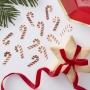 Парти конфети за маса - Red & Gold - Коледно бастунче