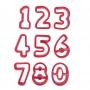 Комплект резци - Цифри - 9 бр