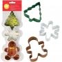 Комплект метални цветни резци - Коледa - 3 бр