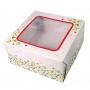 Кутия за торта с прозорче - Холи-Бери - 25х25х12 см