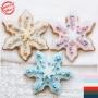 Коледна джинджифилова бисквитка - Снежинка