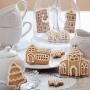 Коледни джинджифилови бисквитки - Коледни къщички