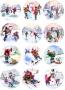 Принт декорация - Снежни забавления - 12 бр