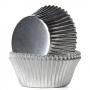 Хартиени форми за мъфини - Сребърно фолио - 24 бр