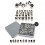 Комплект метални резци - Азбука и цифри - 36 бр