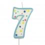 Свещичка цифра - Седмица - Синя
