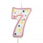 Свещичка цифра - Седмица - Розова
