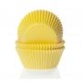 Хартиени форми за мини мъфини - Жълти - 60 бр