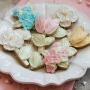 Домашни бисквитки - Перлени цветя - 6 бр