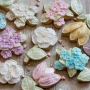 Домашни бисквитки - Перлени цветя - 10 бр