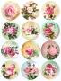 Принт декорация - Розова градина - 12 бр