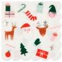 Парти салфетки, големи - MeriMeri - Коледни любимци