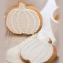 Домашни бисквитки - Есенни в бяло - 6 бр