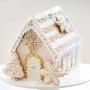 Коледна джинджифилова къщичка - Сладка и светла - Слонова кост