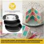 Комплект - Шахматна торта - Кръг - 4 бр