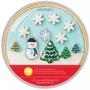 Комплект тава и резци за бисквитки - Снежен глобус - 5 бр