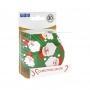 Хартиени форми за мъфини с фолио - Дядо Коледа - 30 бр