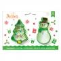 Комплект резци - Снежен човек и Коледна елха - 2 бр