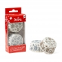 Хартиени форми за мъфини - Бяла Коледа - 36 бр
