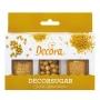 Комплект захарни декорации - Златна Коледа - 3 бр