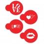 Шаблони за бисквитки и капучино - LOVE