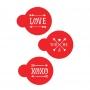 Шаблони за бисквитки и капучино - XOXO